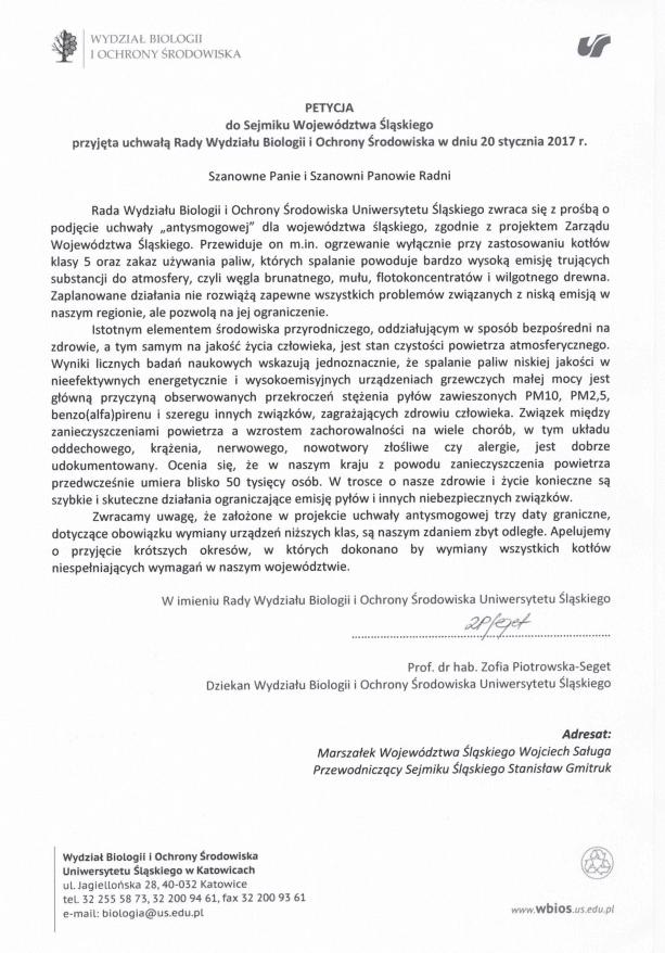 Apel naukowców o uchwałę antysmogową dla województwa śląskiego