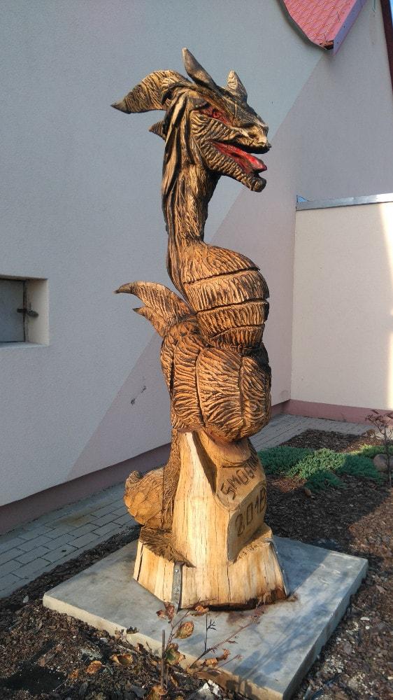 Rzeźba smoka wSmogorzowie