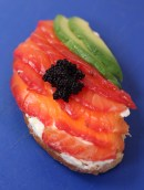 Salmon with avocado on toast