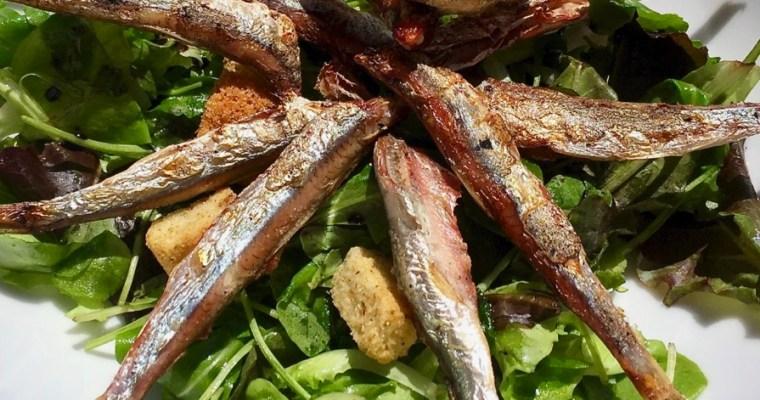 Acciughe alla griglia – grilled anchovy