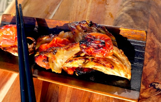 Slow-roasted caramelised fennel