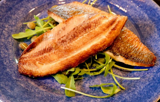 Herring fillets sautéed in butter