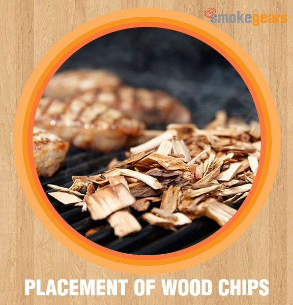 Placement of wood chips
