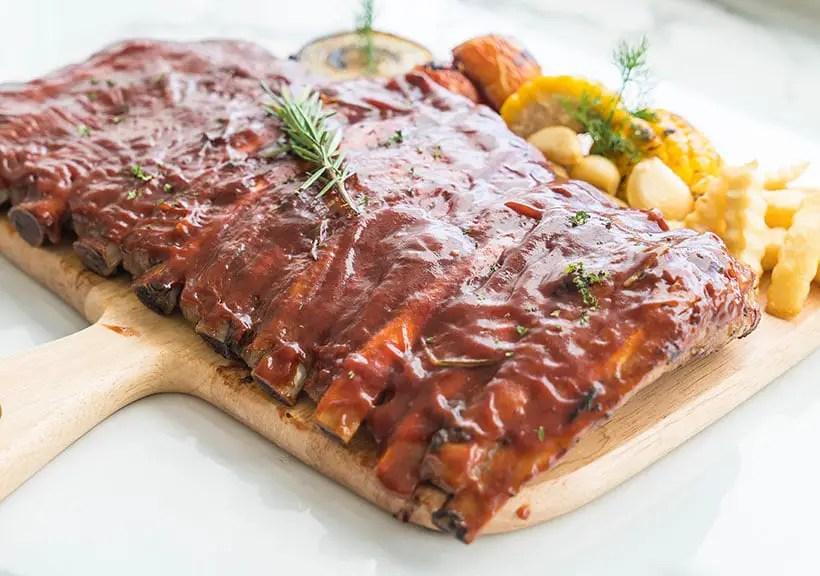 Rib pork with BBQ sauce