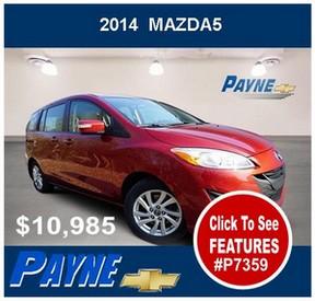 Payne 2014 Mazda 5 P7359 288
