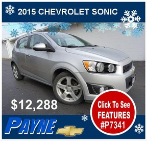Payne 2015 Chevrolet Sonic winter P7341 288