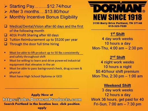 Dorman products Job Flyer