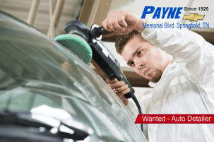Payne Chevrolet in Springfield Seeks Part-time Auto Detailer