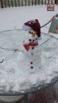 "Submitted by Brandi Dannielle Downs - My daughter's snow man ""SnowBalls"""