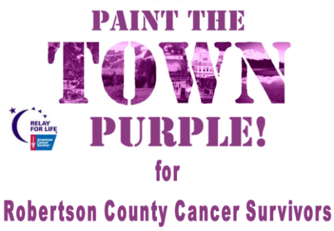 paint the town purple flyer