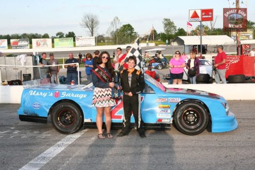 Garrett Dies in victory lane with Miss Highland Rim