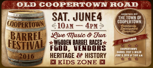 Coopertown Barrel Festival banner