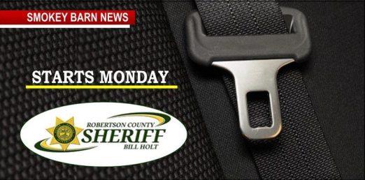 seat belt campaign starts Monday