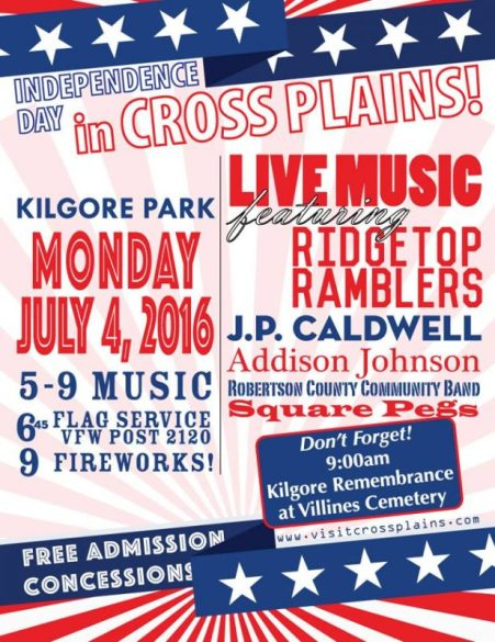 Cross Plains 2016 july 4th flyer a