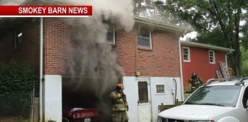 Firefighters Battling Home Fire in Greenbrier