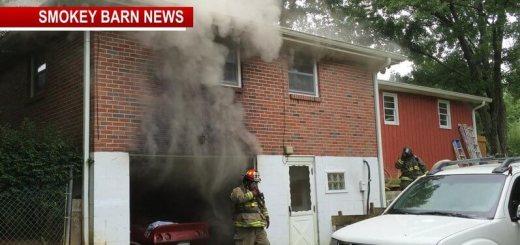 Firefighters Battling Home Fire in Greenbrier