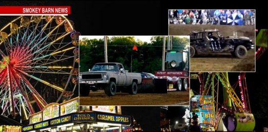 Midnight madness truck pull and derby at fair