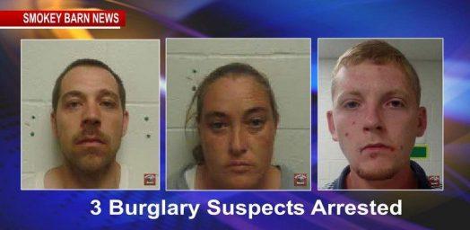 three burglary suspects arrested