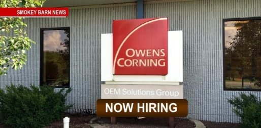 Owens Corning Now Hiring 1st Shift Production Associates