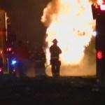 I-65 North Millersville CLOSED Following Semi Crash/Fire
