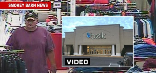 Alleged Belk Thief Walks With Over $900 In Clothes