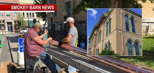 Robertson County Courthouse Gets Copper Touches