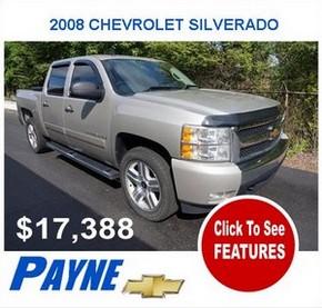 Payne 2008F CHEVROLET SILVERADO 1500 2984464183