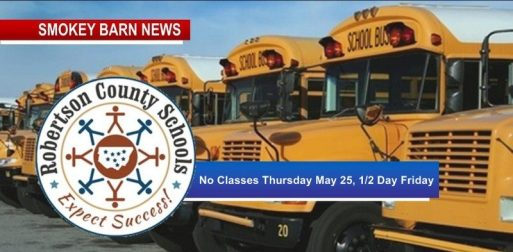 RC Schools: No Classes for Thursday May 25, 1/2 Day of School May 26