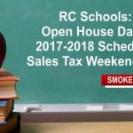 RC Schools: Open House Dates, 2017-2018 Schedule, Sales Tax Weekend