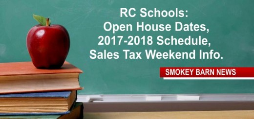 RC Schools: Open House Dates, 2017-2018 Schedule, Sales Tax Weekend