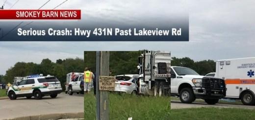 Springfield Man Dies In Fatal 431 Crash Monday