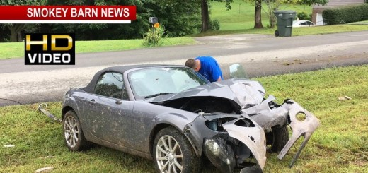 Sports Car Totaled In Alleged DUI Crash With Brick Mailbox