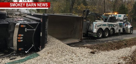One Transported After Dump Truck Overturns In Coopertown