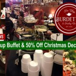 Tonight: All You Can Eat Buffet & 50% Off All Christmas Retail At Burdett's Tea Shop