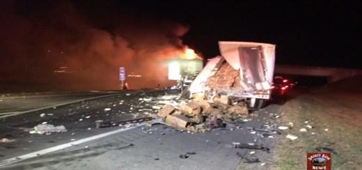 Tractor-Trailer Crash Closes I-24 East At Exit 19