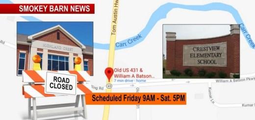 Crestview Elementary/Highland Crest TRAFFIC ALERT