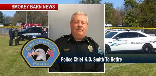 Greenbrier Police Chief K.D. Smith Announces Retirement