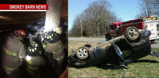 Officials Respond To 2 Rollover Crashes Saturday Morning