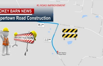 Coopertown Traffic Alert: Road Construction