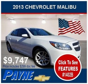 Payne 2013 chevrolet malibu 1402b flag 300
