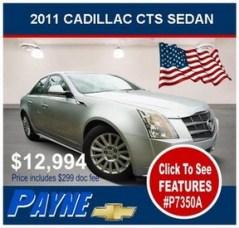 Payne 2011 Cadillac CTS P7350A 288