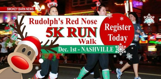 Nashville 5K Charity Run: Sign Up Now - Rudolph's Red Nose Run Dec. 1