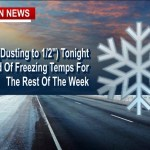 ALERT: Frigid Temps-Light Snow Tonight (Pets-Pipes-Plants)