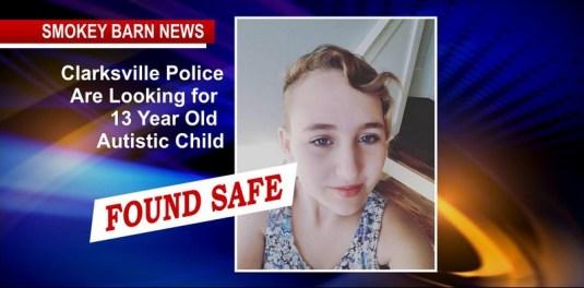 UPDATE: Found Safe - Search Underway For 13 Year Old Autistic Child In Clarksville