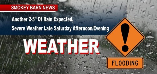 """Another 3-5"""" Of Rain Expected, Severe Weather Late Saturday Afternoon/Evening"""