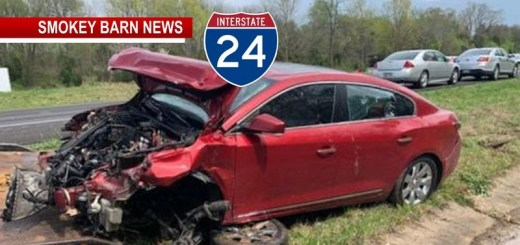 Pursuit, Crash On I24 Near Coopertown Nets Armed Robbery Suspect