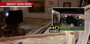 Truck Plows Into Home Inches From Sleeping 85-year-old Woman