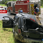 Driver Extricated Following Hwy 41 Rollover Crash