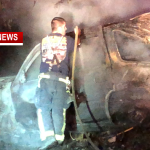 Driver Survives Fiery Rollover Crash Near White House