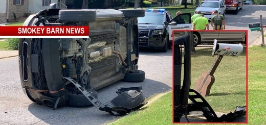 Guitar Shaped Mailbox Causes Rollover Crash In Greenbrier